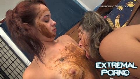 Bianca, Fabi - The chocolate is all gone? let's eat scat (NewMFX, Newscatinbrazil)
